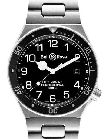 Bell & Ross Архив Bell & Ross Type Marine Type Marine Black Steel