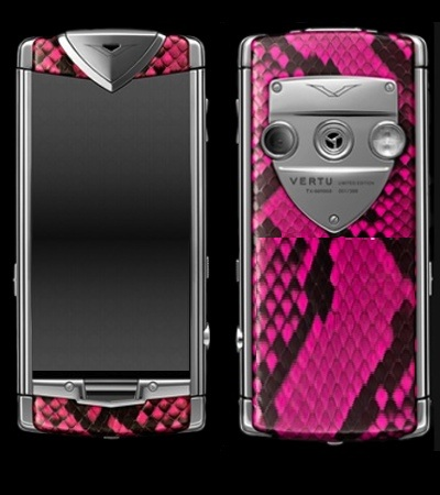 Vertu Constellation Touch Python Pink
