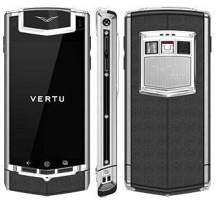 Vertu Ti Satin Black Leather
