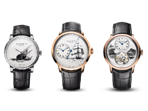 Arnold & Son Instrument Collection HMS Beagle Set - Ultra-Thin Tourbillon Rose Gold 1UTAR.S07A.C120A
