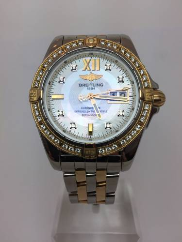 Breitling Windrider Cockpit Bicolor Mother Of Pearl Diamond C49350