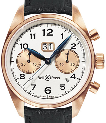 Bell & Ross Архив Bell & Ross Gold Big Date Vintage 126 PinkGold Annual Big Date Chronograph Croco