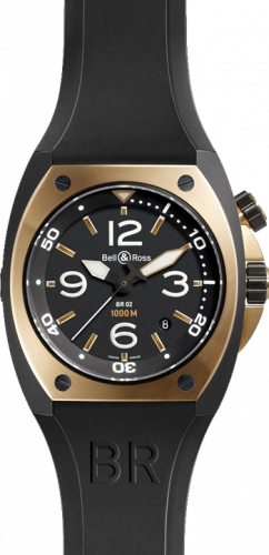 Bell & Ross Marine Automatic BR 02-92 Pink Gold & Carbon