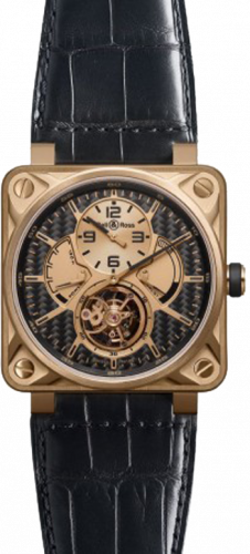 Bell & Ross Aviation BR 01 46mm Tourbillon BR 01 Tourbillon Pink Gold Carbon