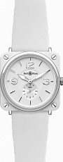 Bell & Ross Aviation BR-S Ceramic BR-S White Ceramic Rubber