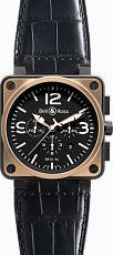 Bell & Ross Aviation BR 01-94 Chronographe 46 mm BR 01-94 PinkGold&Carbon Croco