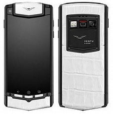 Vertu Ti Pure Black White Alligator