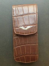 Вертикальный чехол Vertu Constellation Alligator Brown