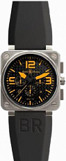 Bell & Ross Aviation BR Instrument BR 01-94 46mm Chronograph BR 01-94 TitaniumOrange Rubber