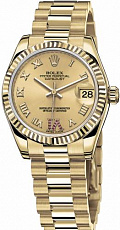 Rolex Datejust Lady 26mm Yellow Gold 379378 Champagne D