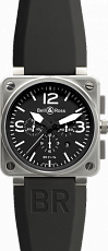 Bell & Ross Aviation BR Instrument BR 01-94 46mm Chronograph BR 01-94 BlackDial Croco