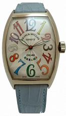 Franck Muller Color Dreams Cintree Curvex White Gold 7851 SC