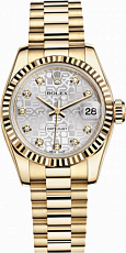 Rolex Datejust 26,29,31,34 mm 26mm Yellow Gold 179178 Jubilee Silver