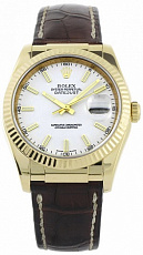 Rolex Datejust 36mm Yellow Gold 116138 White