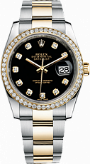 Rolex Datejust 26,29,31,34 mm 31mm Steel and Yellow Gold 178383 black