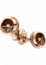 Breguet Accessories Cufflinks Rotor pink gold and enamel 9907BREC