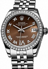 Rolex Datejust 26,29,31,34 mm 31mm Steel and White Gold 178384 Bronze