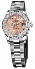 Rolex Datejust 26,29,31,34 mm 26mm Steel and White Gold 179384 Gold Cristals Pink