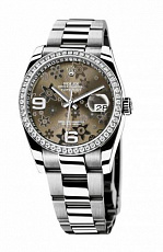 Rolex Datejust 36mm Steel and White Gold Brown 116244 Brown