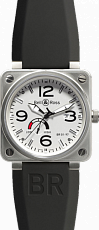 Bell & Ross Aviation BR 01-97 Reserve de Marche 46 mm BR 01-97 WhiteDial Rubber