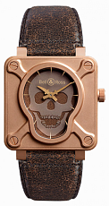 Bell & Ross Aviation Skull Bronze BR0192-SKULL-BR