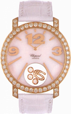 Chopard Happy Diamonds Mother of Pearl Leather Ladies Watch 207450-5005