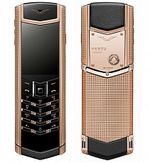 Vertu Signature S Design Clous de Paris 18-carat Red Gold