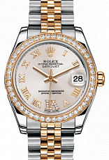 Rolex Datejust 26,29,31,34 mm 31mm Steel and Yellow Gold 178383 Silver