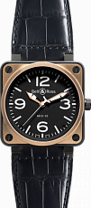 Bell & Ross Aviation BR Instrument BR 01-92 46mm Automatic BR 01-92 PinkGold&Carbon Croco