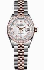 Rolex Datejust 26,29,31,34 mm 28 mm steel Everose gold and diamonds 279381rbr-0013