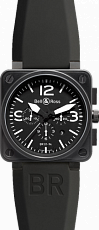 Bell & Ross Aviation BR 01-94 Chronographe 46 mm BR 01-94 Carbon Rubber