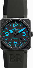 Bell & Ross Aviation Carbon Blue BR 03-92 Carbon Blue