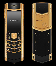 Vertu Signature S Design Deco Red Gold Black and White Diamonds