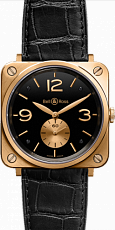 Bell & Ross Aviation BR-S Gold BR-S Gold Black Dial