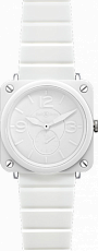 Bell & Ross Aviation BR-S Ceramic Phantom BR-S White Ceramic Phantom Rubber