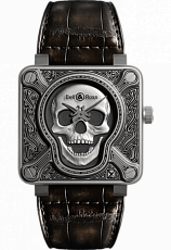 Bell & Ross Aviation BR 01 BURNING SKULL BR01-92-S-022/500