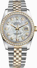 Rolex Datejust 26,29,31,34 mm 31mm Steel and Yellow Gold 178383 WhiteMOP Diamonds