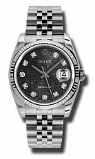 Rolex Datejust Black Dial Automatic Stainless Steel 116234BKJDJ